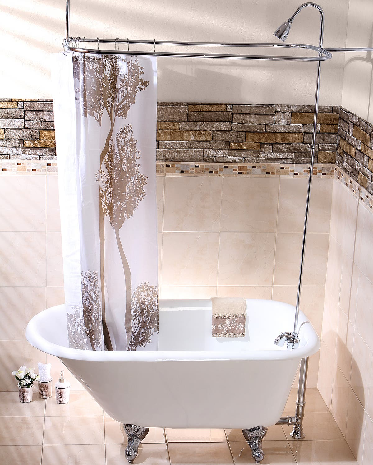 Bathroom Accessories Design Featured Interior Choosing A Shower Curtain For Your Clawfoot Tub