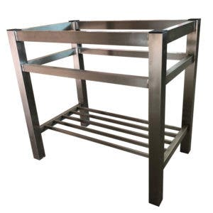 Fauceture VSP3220A8 32-Inch X 20-Inch X 30-Inch Stainless Steel Wash Basin Console Stand, Stainless Steel