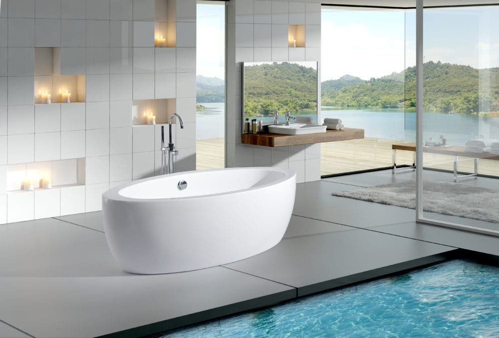 Apron Front Sinks, Bathroom Faucets, Buying Guide, Farmhouse Sinks,  Featured, Freestanding Bathtub, Tub Filler