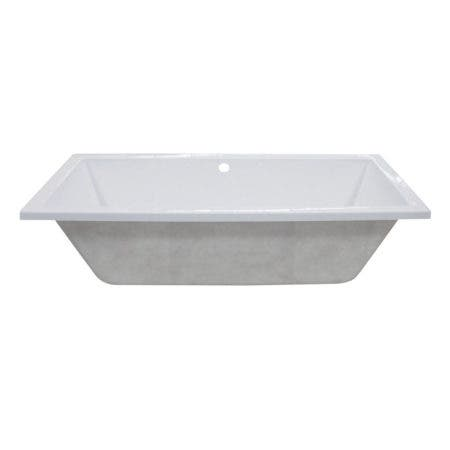 Aqua Eden VTPN593017C 59-Inch Acrylic Rectangular Drop-In Tub with Center Drain Hole, White