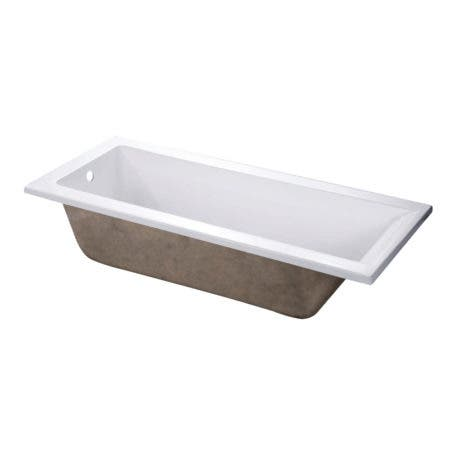 Aqua Eden VTPN672817 67-Inch Acrylic Rectangular Drop-In Tub with Reversible Drain Hole, White
