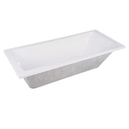 Aqua Eden XVTPN593017 59-Inch Acrylic Rectangular Drop-In Tub with Reversible Drain Hole, White