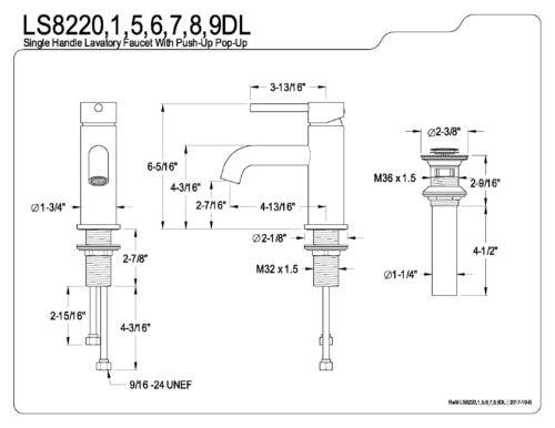 FAUCET FEATURE 5: Profile of the LS8227DL Concord Single ... on
