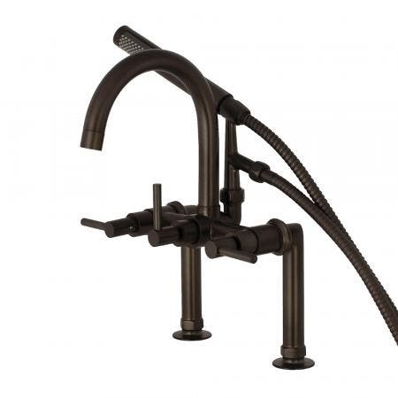 Kingston Brass AE8105DL Deck Mount Tub Filler with Hand Shower, Oil Rubbed Bronze