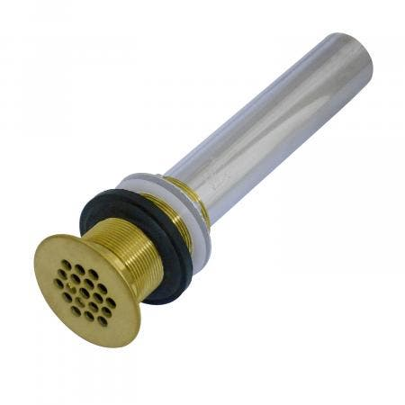 Kingston Brass KB4007 Fauceture Grid Drain without Overflow, 17 Gauge, Satin Brass