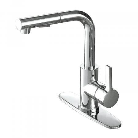 Gourmetier LS2711CTL Continental Single-Handle Kitchen Faucet with Pull-Out Sprayer, Polished Chrome