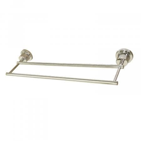 Kingston Brass BAH821318PN Concord 18-Inch Double Towel Bar, Polished Nickel