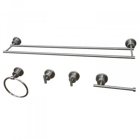 Kingston Brass BAH821330478SN Concord 5-Piece Bathroom Accessory Set, Brushed Nickel