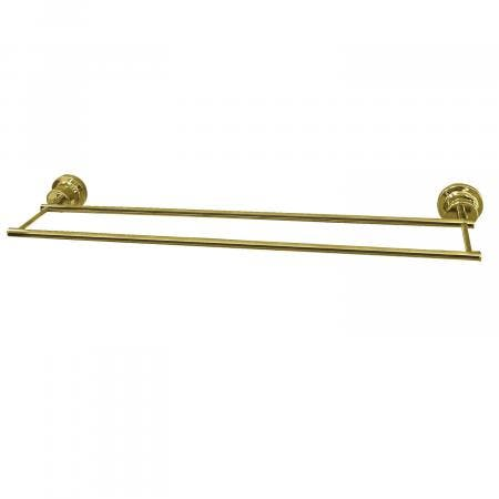 Kingston Brass BAH821330PB Concord 30-Inch Double Towel Bar, Polished Brass