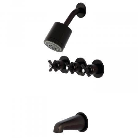 Kingston Brass KBX8135ZX Millennium Tub/Shower Faucet with 3 Handles, Oil Rubbed Bronze