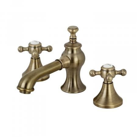Kingston Brass KC7063BX English Country 8-Inch Widespread Lavatory Faucet with Brass Pop-Up, Vintage Brass