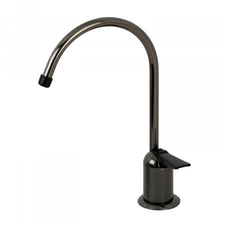 Kingston Brass NK6190 Water Onyx Single-Handle Cold Water Filtration Faucet, Bright Black Stainless Steel