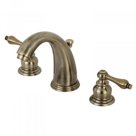 Kingston Brass KB983ALAB Victorian 8-Inch Widespread Lavatory Faucet, Vintage Brass