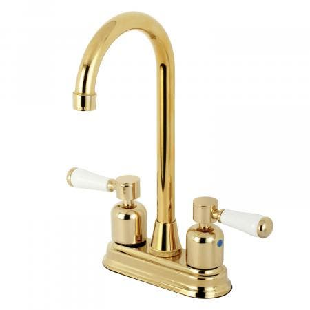 Kingston Brass KB8492DPL Paris Bar Faucet, Polished Brass