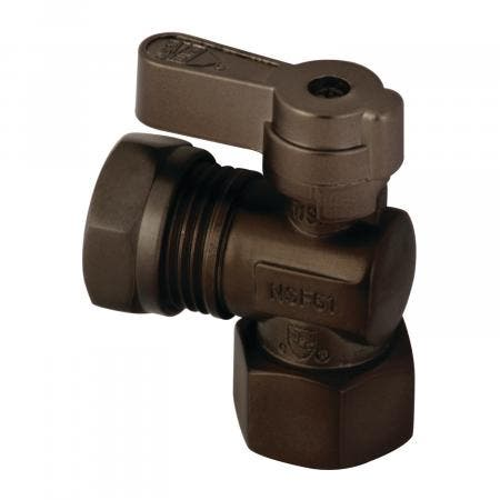 Kingston Brass KF4410ORB 1/2 Fip X 1/2 and 7/16 OD Slip Joint Angle Stop Valve, Oil Rubbed Bronze