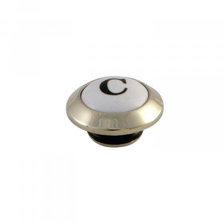 Kingston Brass KSHI1162PXC Cold Handle Index Button for KS1162PX, Polished Brass