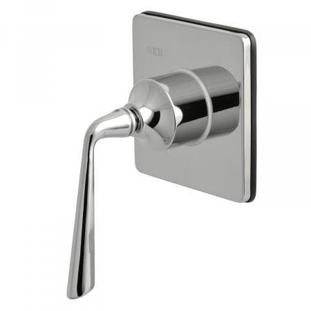 Kingston Brass KS3041ZL Three-Way Diverter Valve with Single Handle and Square Plate, Polished Chrome