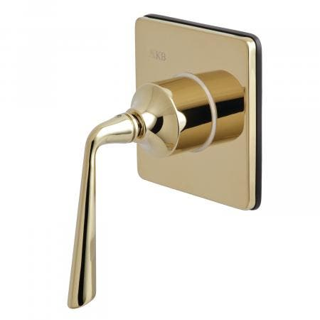 Kingston Brass KS3042ZL Three-Way Diverter Valve with Single Handle and Square Plate, Polished Brass
