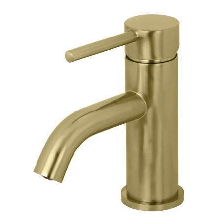 Fauceture LS8223DL Concord Single Handle Monoblock Bathroom Faucet, Brushed Brass