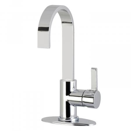 Kingston Brass LS8611CTL Continental One-Handle 1-Hole Deck Mounted Widespread Bar Faucet, Polished Chrome