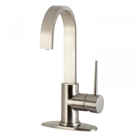 Kingston Brass LS8618NYL New York One-Handle 1-Hole Deck Mounted Widespread Bar Faucet, Brushed Nickel