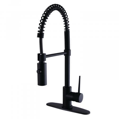 Gourmetier LS8770NYL Single-Handle Pull-Down Kitchen Faucet, Matte Black