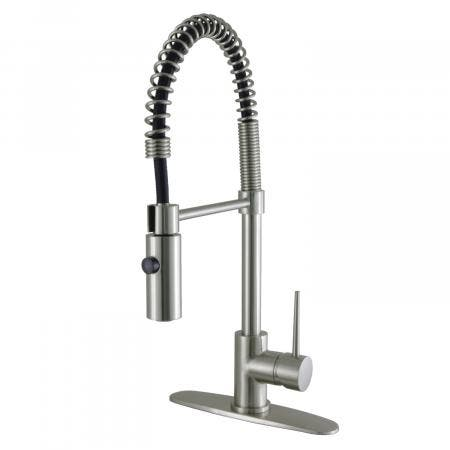Gourmetier LS8778NYL Single-Handle Pull-Down Kitchen Faucet, Brushed Nickel