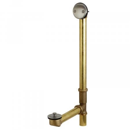 "Kingston Brass DLL3183 18"" Tub Waste and Overflow with Lift & Lock Drain, 20 Gauge, Antique Brass"