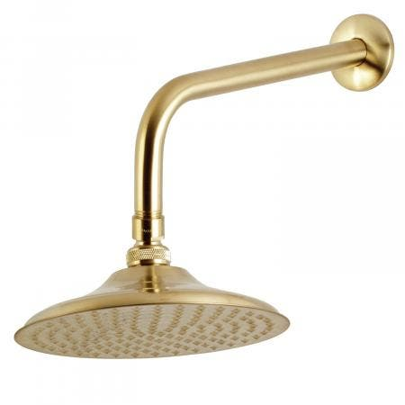 """Kingston Brass K136A7CK Victorian 8"""" Showerhead with 12"""" Shower Arm, Brushed Brass"""