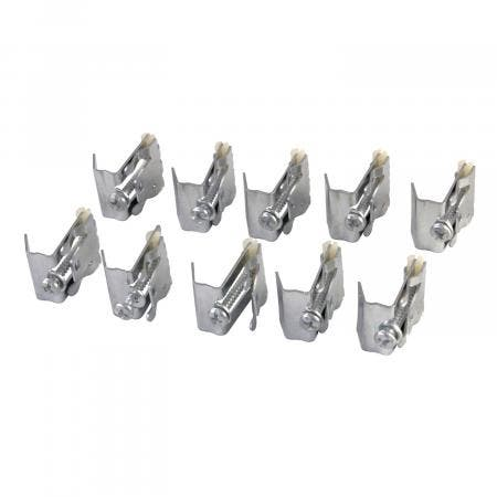 Gourmetier KDSHDWR10 Mounting Clips For Stainless Steel Sink, Silver