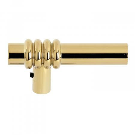 Kingston Brass KSH8122ML Milano Metal Lever Handle, Polished Brass