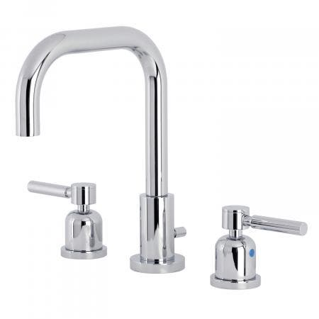 Kingston Brass FSC8931DL Concord Widespread Bathroom Faucet with Brass Pop-Up, Polished Chrome