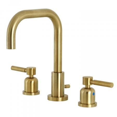 Kingston Brass FSC8933DL Concord Widespread Bathroom Faucet with Brass Pop-Up, Brushed Brass