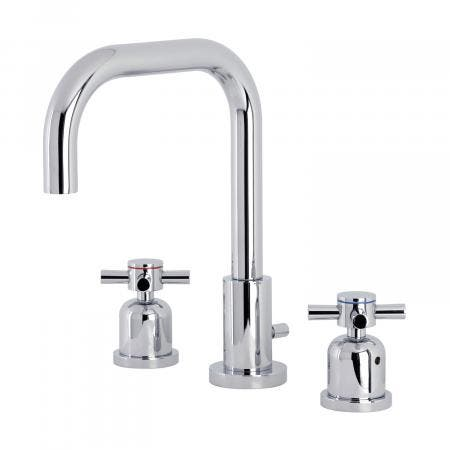 Kingston Brass FSC8931DX Concord Widespread Bathroom Faucet with Brass Pop-Up, Polished Chrome