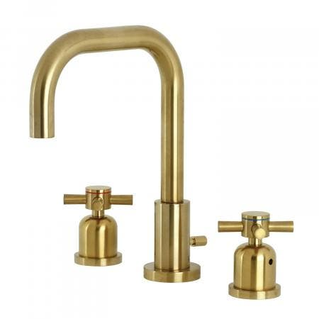 Kingston Brass FSC8933DX Concord Widespread Bathroom Faucet with Brass Pop-Up, Brushed Brass