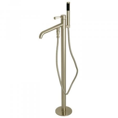 Kingston Brass KS8138DPL Paris Single Handle Freestanding Tub Faucet with Hand Shower, Brushed Nickel