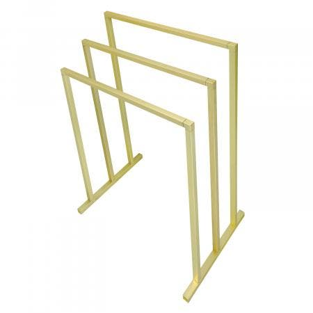 Kingston Brass SCC8287 Pedestal 3-Tier Steel Construction Towel Rack, Brushed Brass