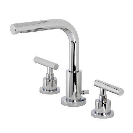 Kingston Brass FSC8951CML Manhattan Widespread Bathroom Faucet with Brass Pop-Up, Polished Chrome