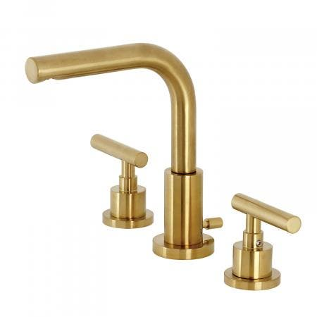 Kingston Brass FSC8953CML Manhattan Widespread Bathroom Faucet with Brass Pop-Up, Brushed Brass