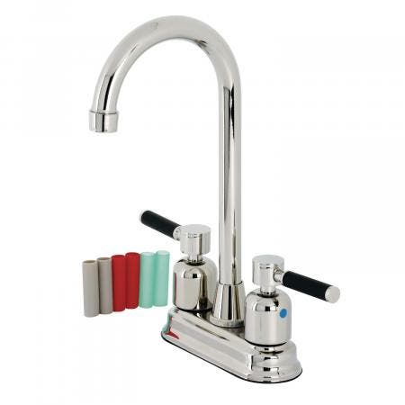 Kingston Brass KB8496DKL Kaiser Bar Faucet, Polished Nickel
