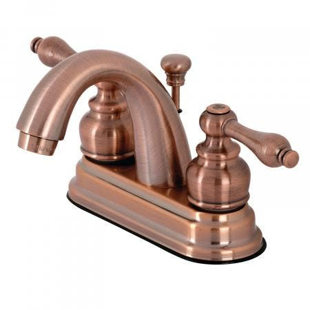 Kingston Brass KB561ALAC Restoration 4 in. Centerset Bathroom Faucet, Antique Copper