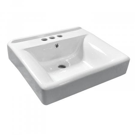Fauceture EV2018W34 Concord Ceramic Recessed Drop-In Bathroom Sink, White