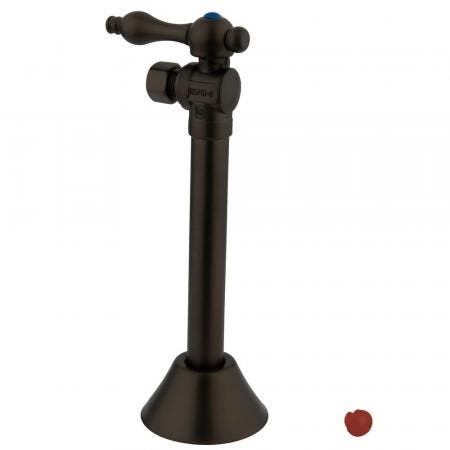 """Kingston Brass CC83205 1/2"""" Sweat, 3/8"""" O.D. Compression Angle Shut-off Valve with 5"""" Extension, Oil Rubbed Bronze"""