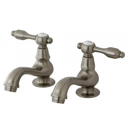 Kingston Brass KS1108TAL Basin Tap Faucet with Lever Handle, Brushed Nickel