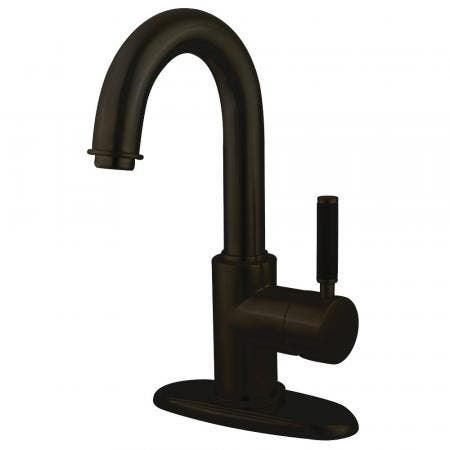 Fauceture FS8435DKL Kaiser Single-Handle Bathroom Faucet with Push Pop-Up and Cover Plate, Oil Rubbed Bronze
