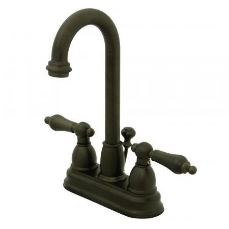 Kingston Brass KB3615AL 4 in. Centerset Bathroom Faucet, Oil Rubbed Bronze