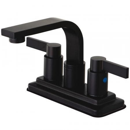 Kingston Brass KB8465NDL NuvoFusion 4-Inch Centerset Bathroom Faucet, Oil Rubbed Bronze