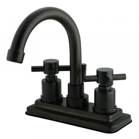 Kingston Brass KS8665DX Concord 4 in. Centerset Bathroom Faucet with Brass Pop-Up, Oil Rubbed Bronze
