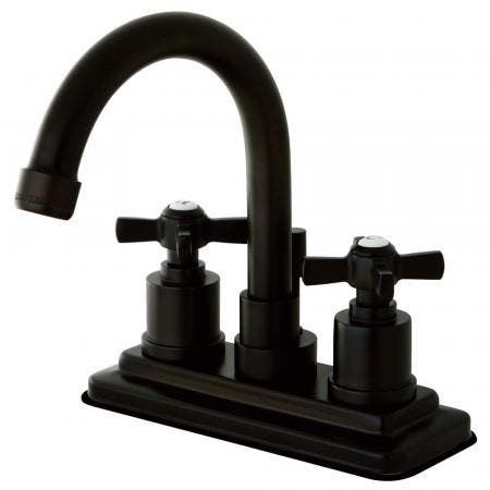 Kingston Brass KS8665ZX Millennium 4 in. Centerset Bathroom Faucet with Brass Pop-Up, Oil Rubbed Bronze