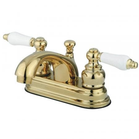 Kingston Brass GKB2602PL 4 in. Centerset Bathroom Faucet, Polished Brass